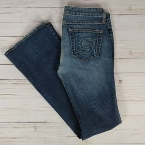 bebe 5 pkt boot cut jeans size 28